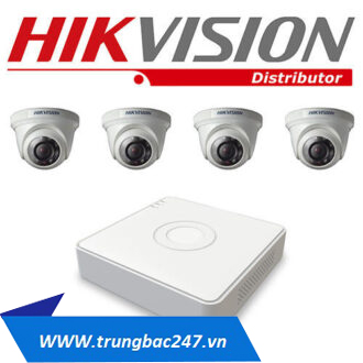 Lắp đặt trọn bộ 4 camera quan sát hikvision