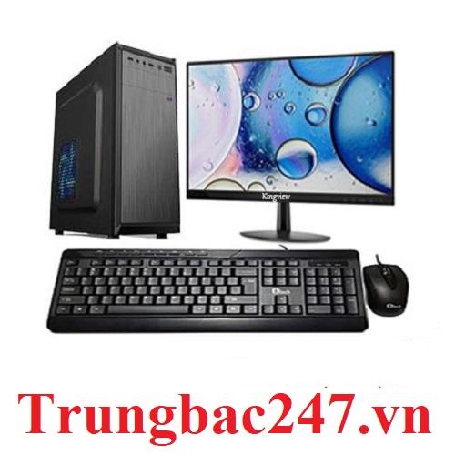 Bộ Cây Main H410M Cpu i3-10100 Ram 4GB SSD 120Gb Màn 18.5