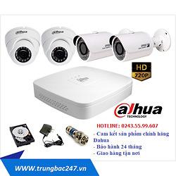 Lắp đặt trọn bộ 4 camera quan sát Dahua