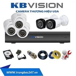 bộ 4 camera quan sát KBVISISON