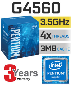 CPU Intel DC G4560 3.5 GHz / 3MB / HD 610 Series Graphics / Socket 1151 (Kabylake)