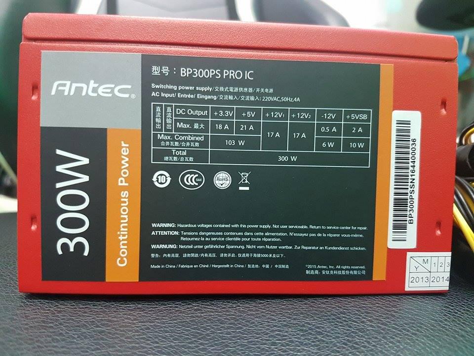 Nguồn máy tính Antec BP300PS PRO 300W