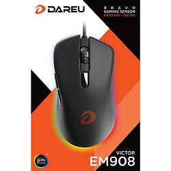CHUỘT GAMING DAREU EM908 (LED RGB, BRAVO SENSOR)