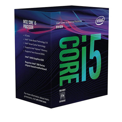 CPU Intel Core i5-9400F 2.90Ghz Turbo up to 4.10GHz / 9MB / 6 Cores, 6 Threads / Socket 1151 / Coffee Lake