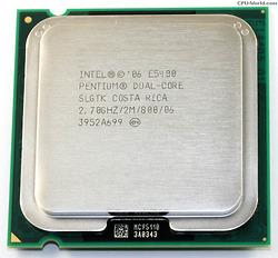 Intel Pentium E5400 (2.70 GHz, 2M L2 Cache, socket 775, 800MHz FSB)